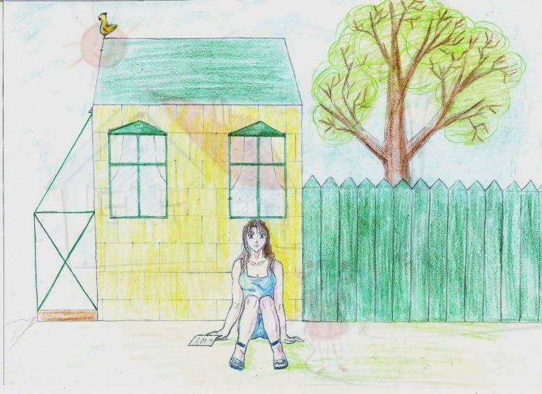 Правильный рисунок дом дерево человек