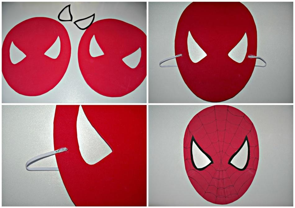 Как сделать из бумаги легкую маску 539