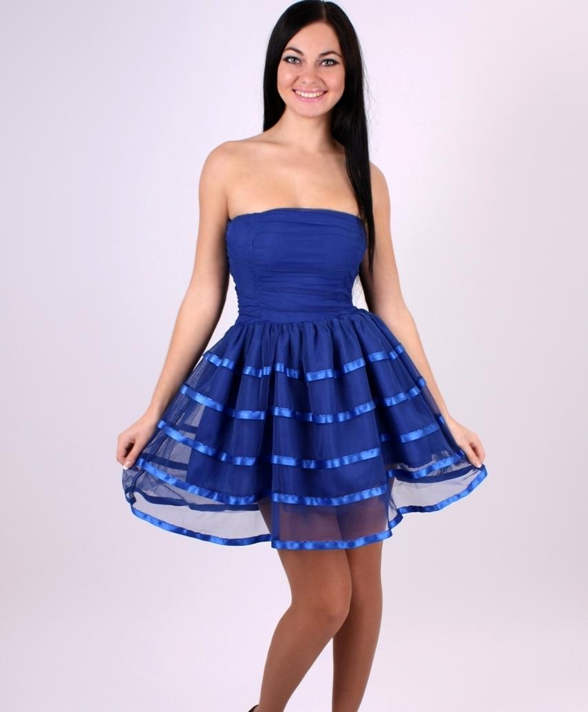 Синие платье с пышной юбкой фото