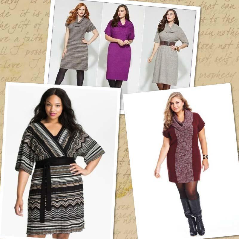 Вязание платья на полных женщин 42