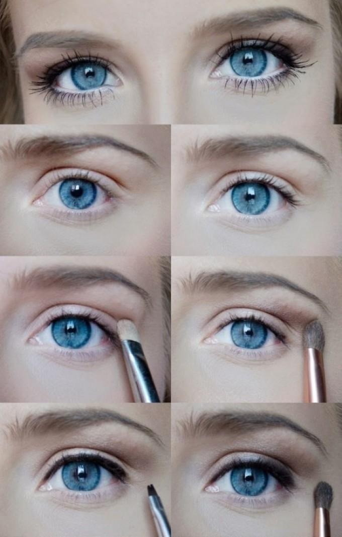 Макияж глаз с нависшим веком: пошаговое фото как сделать