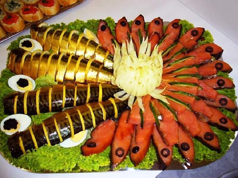 Нарезка из рыбы на праздничный стол мастер класс