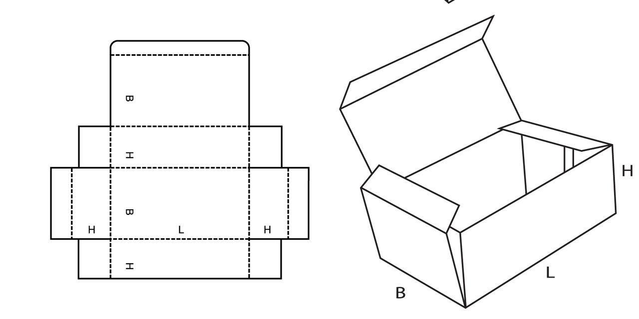 Как сделать из картона коробочку с крышкой поэтапно