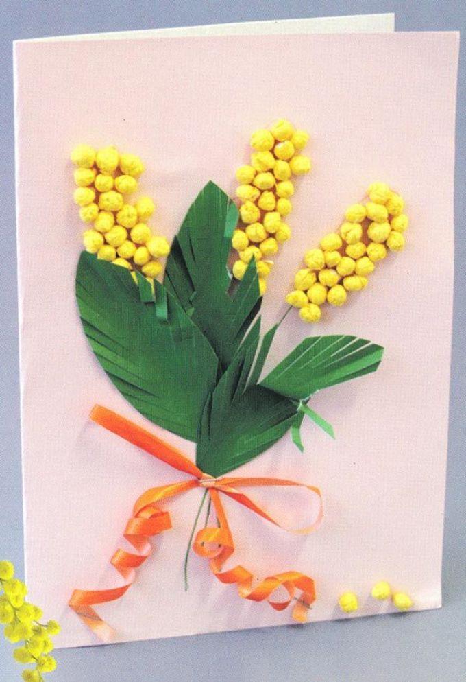 Цветок своими руками из ваты 76