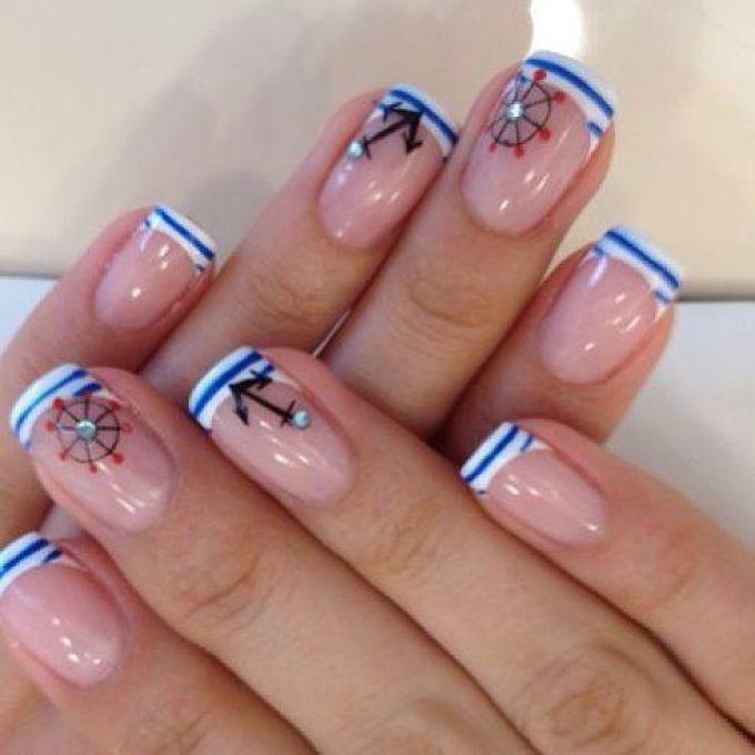 Ногти дизайн морской