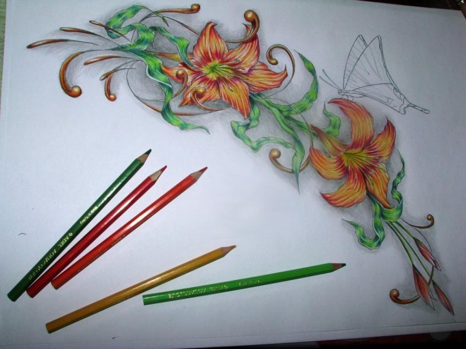 Красивые нежные эротические рисунки красками и карандашом фото 785-892