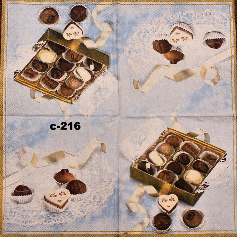 Для декора короба для домашних конфет идеально подойдет, например, такая декупажная салфетка