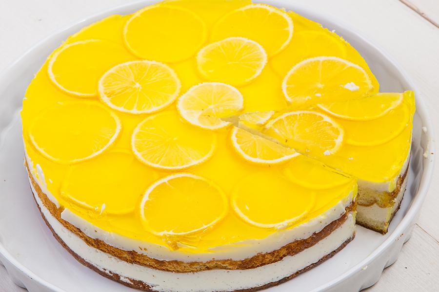 Лимонный торт с желе рецепт