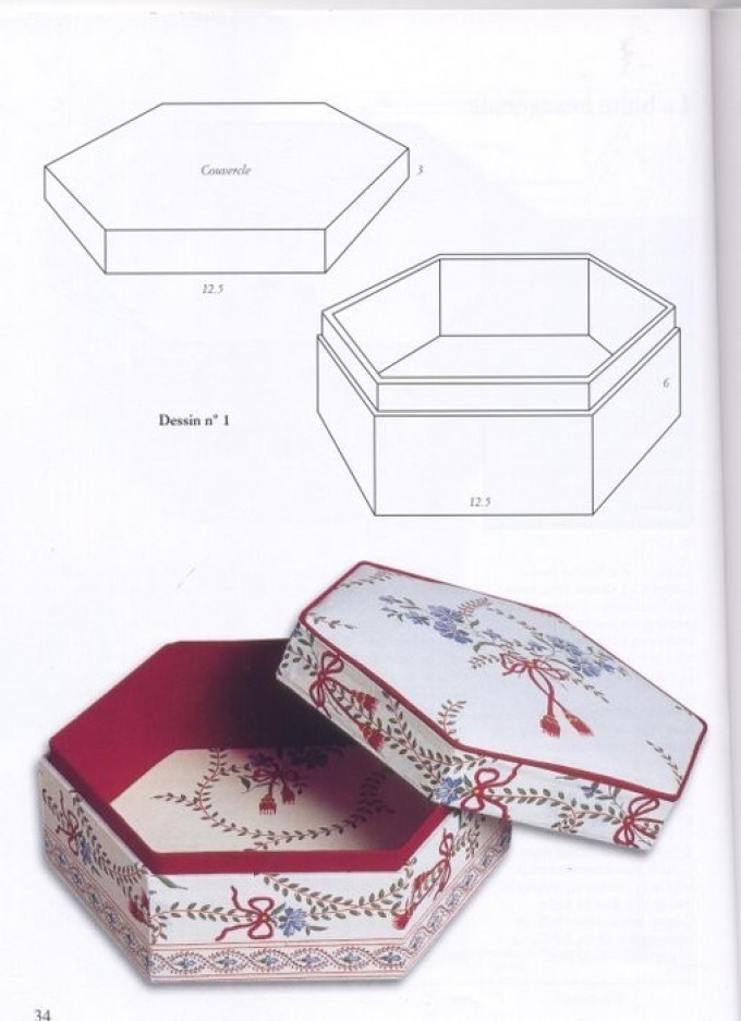 Как сделать шкатулку из картона с крышкой