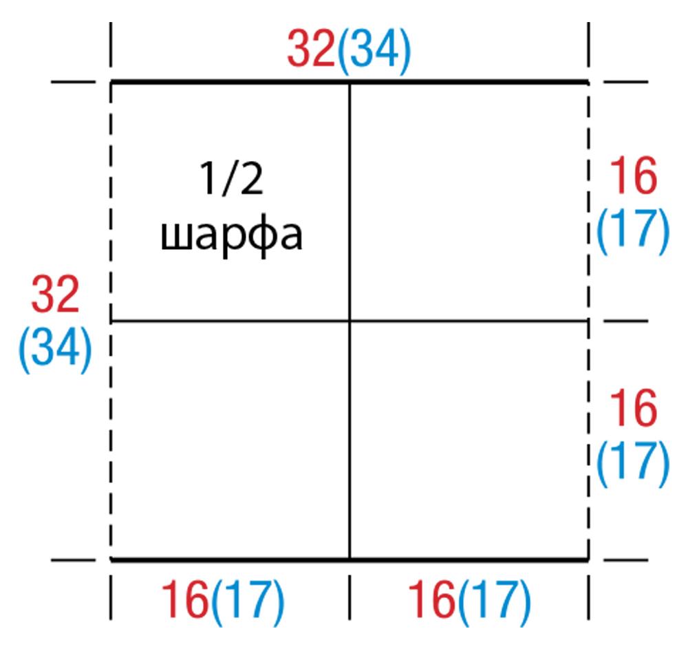 Схема вязания шапки трубы спицами. Подробное описание с 46