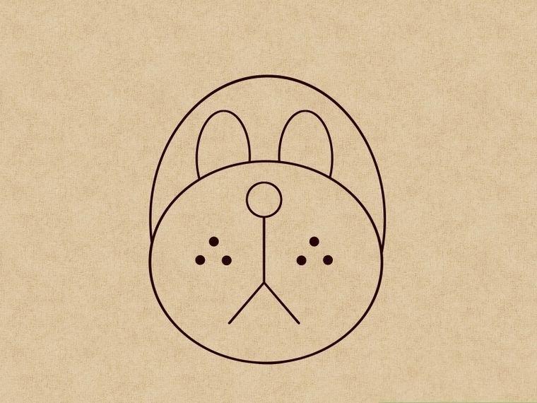 Как нарисовать щенка: шаг 5
