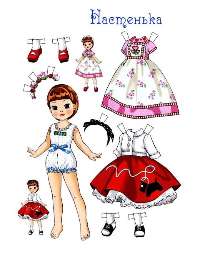 Бумажная одежда кукол своими руками