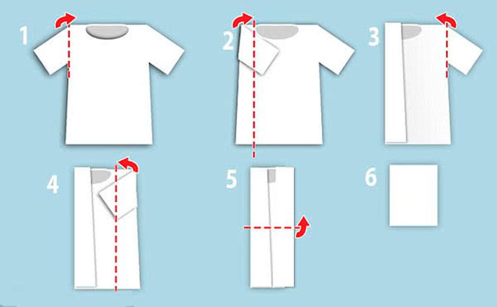 Как красиво свернуть футболку в подарок 10