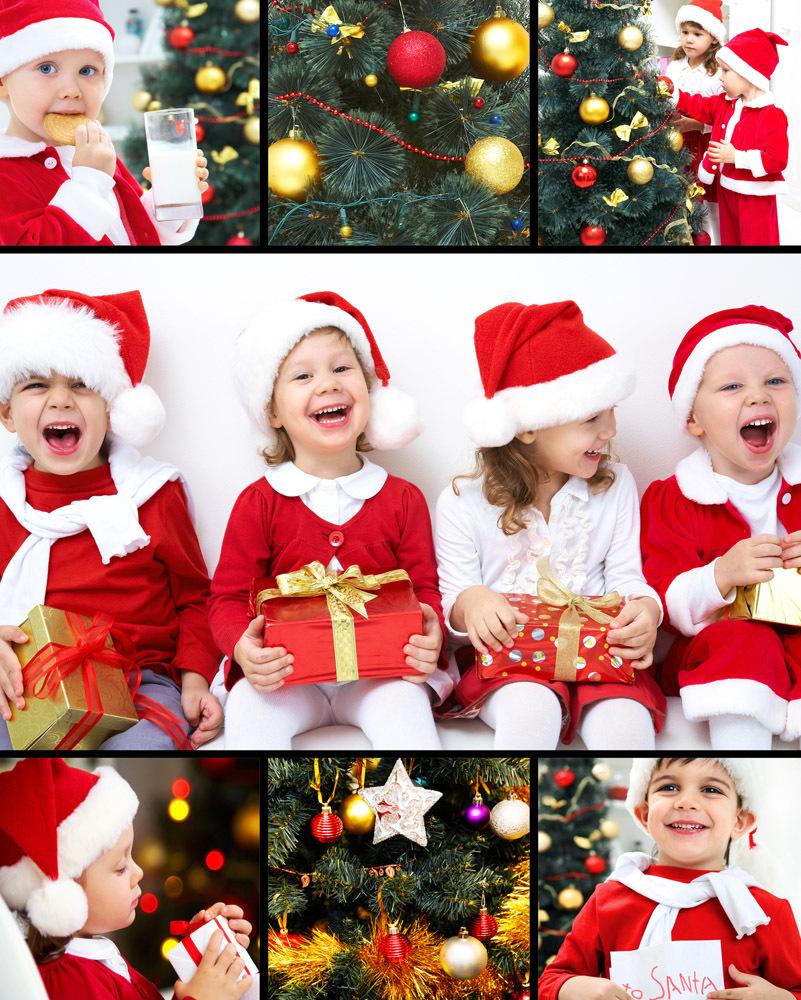 Коллажи детские на новый год