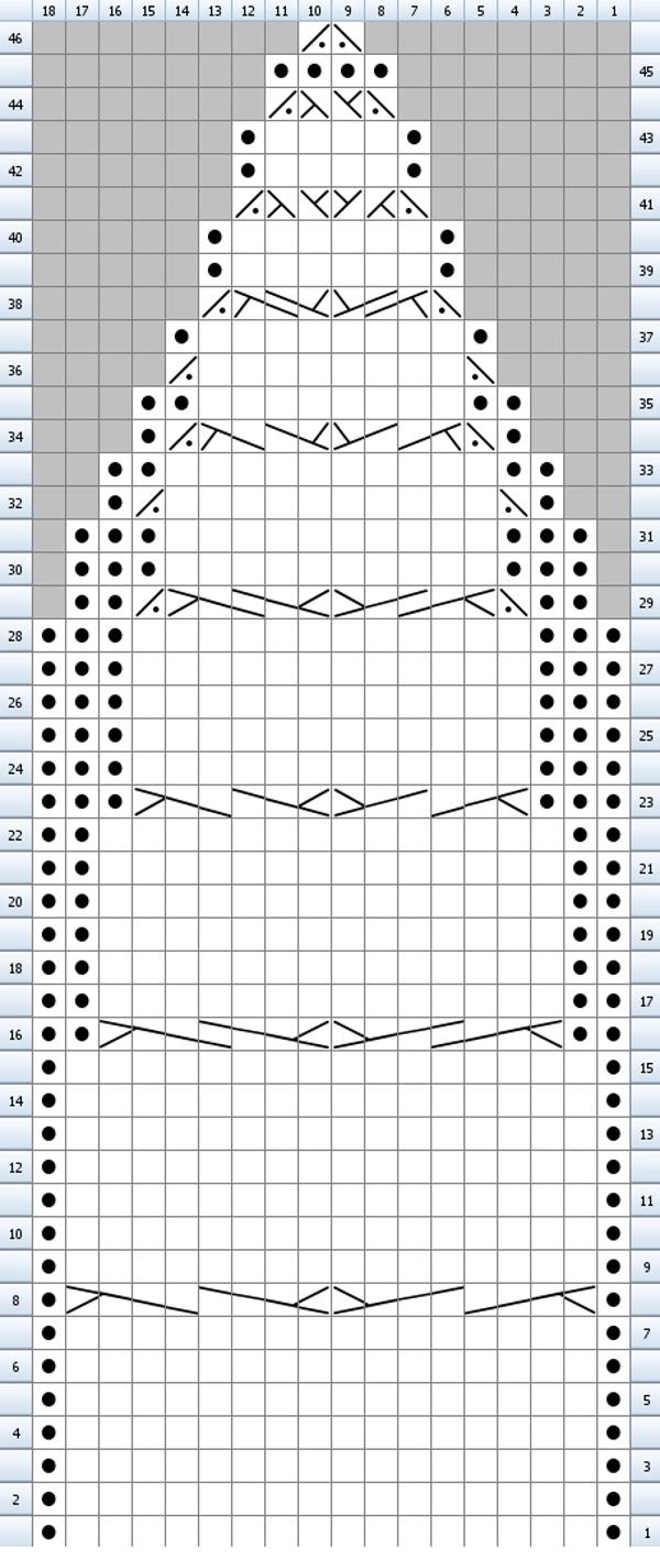 описание и схема узора спиральные косы