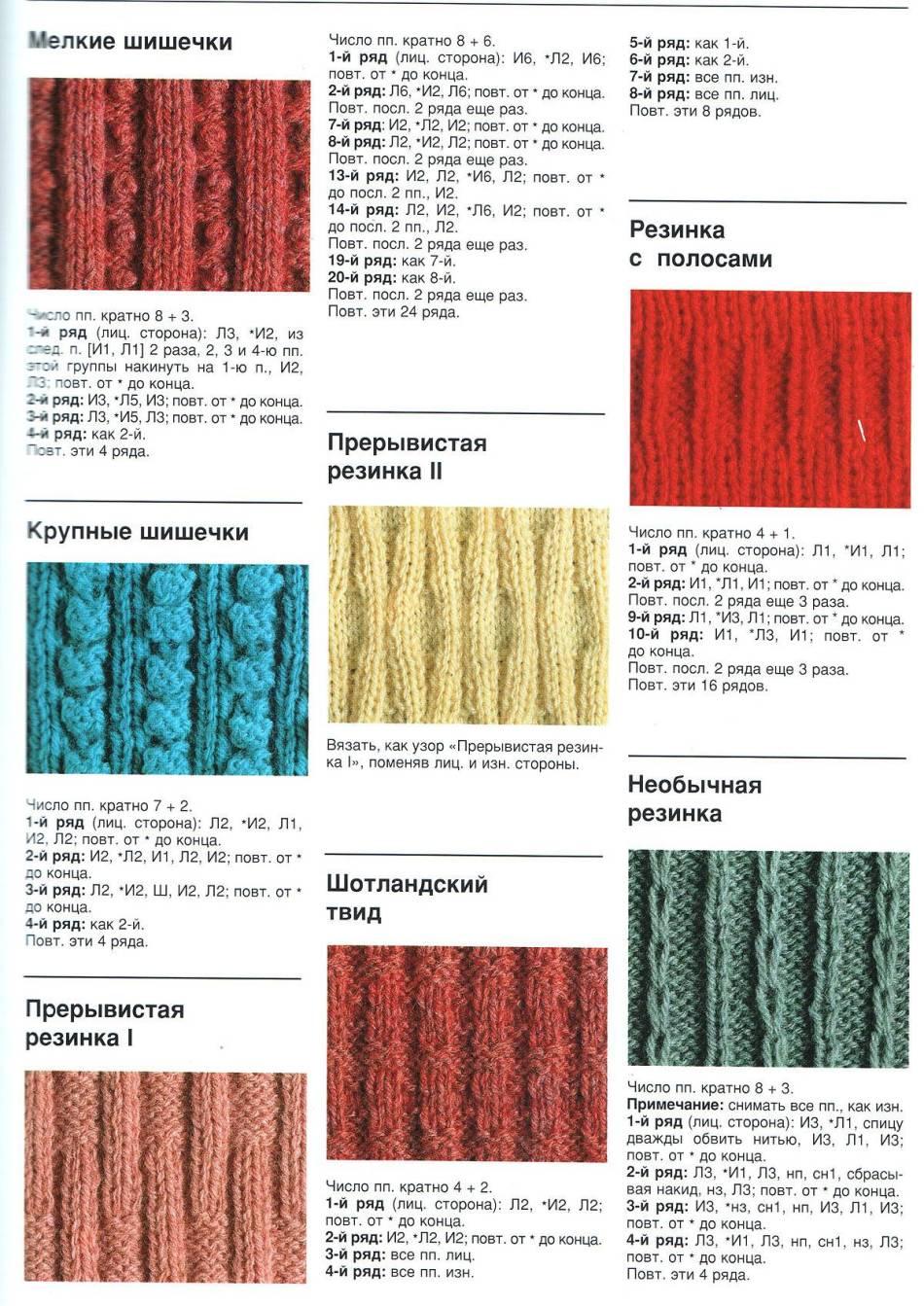 схема вязания варежек ёжики спицами