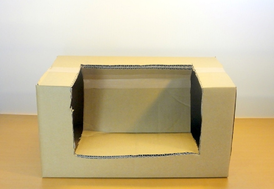 Кресло из картона для кукол