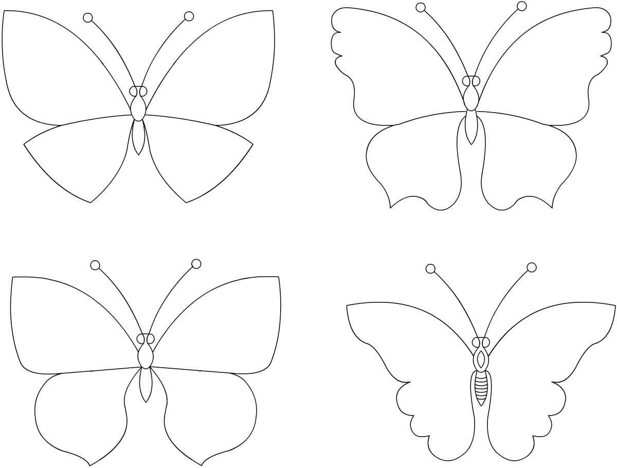 Шаблоны бабочками как сделать 18