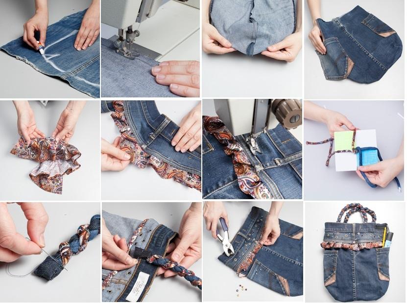 Как сшит сумку из джинс 79