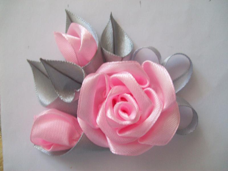 розы из атласных лент пошаговая инструкция