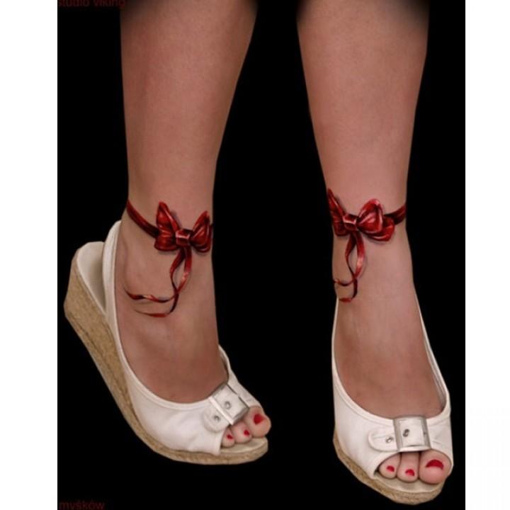 Татушка браслет на ногу