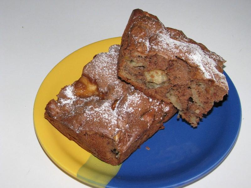 Шарлотка шоколадная с яблоками рецепт с пошагово в духовке