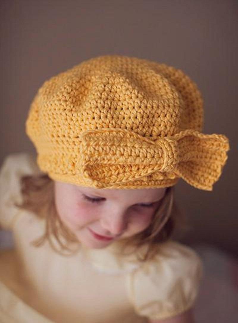 вязание береток для девочек 5 лет тонкими нитками со схемами