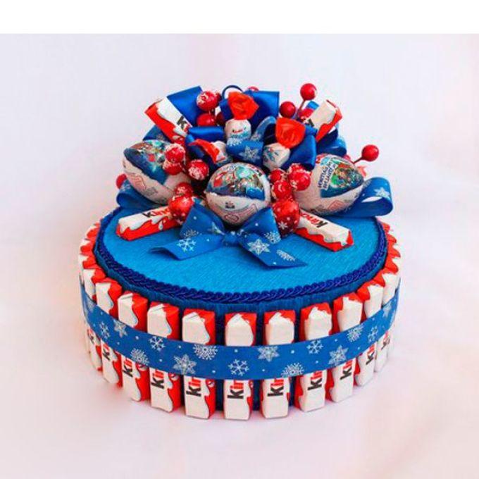Подарочные торты из конфет