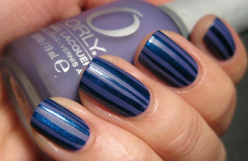 Полосы дизайн ногтей