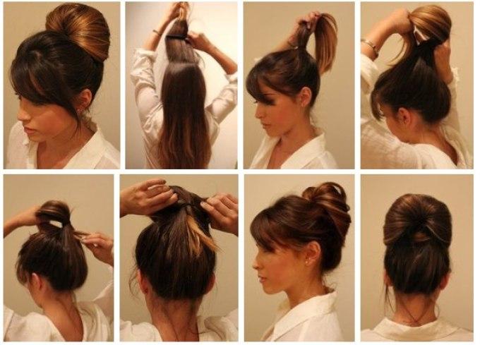 Прически для длинных волос в домашних условиях самой себе 87