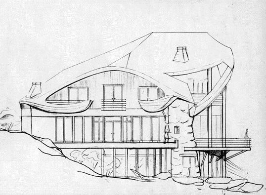 Рисунки для срисовки дом легко