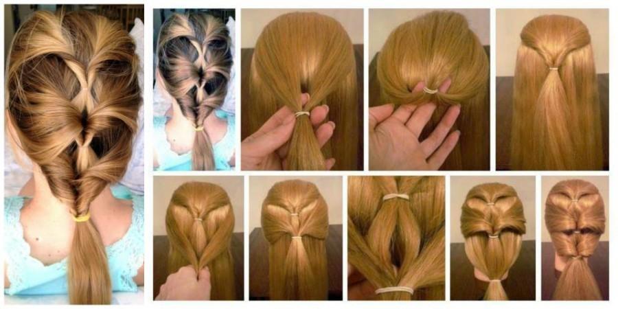 простые быстрые прически для длинных волос
