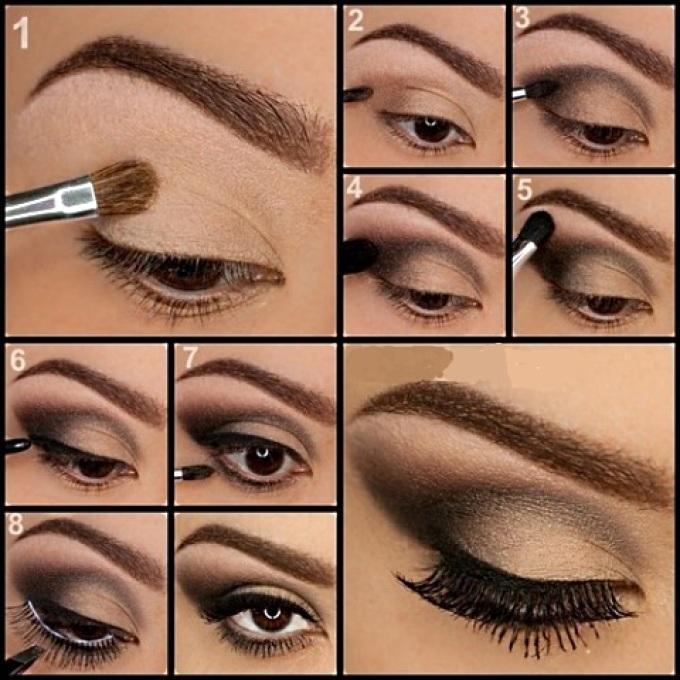 Как нанести красивый макияж на глаза фото пошагово в