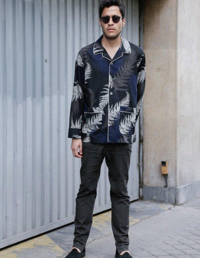 Уличная мужская мода парижа 2018-2019 года - пижамный стиль
