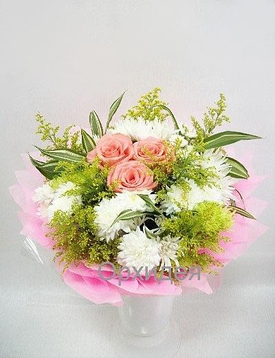 Свадебный букет невесты из хризантем своими руками