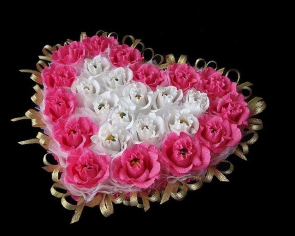 Сердце с конфетами своими руками фото 44