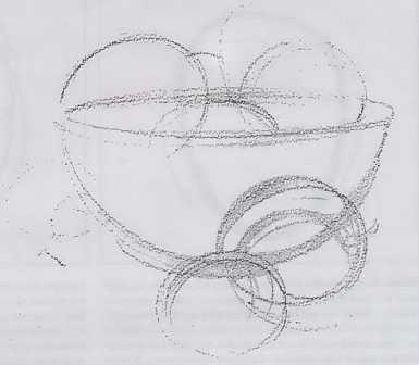 Как нарисовать натюрморт ваза и фрукты