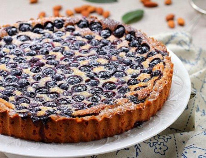 Песочный пирог с черникой рецепт пошагово