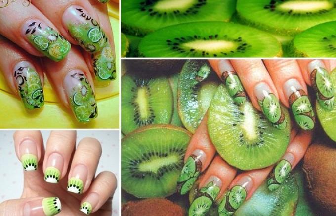 Дизайн ногтей фрукты