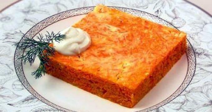 Морковная запеканка с манкой рецепт с фото