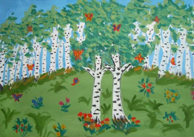 Русская березка конкурс детского рисунка