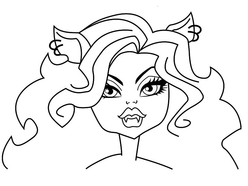 Как нарисовать куклу монстер хай поэтапно всех