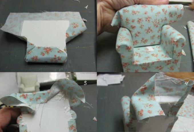 Мебель своими руками для кукол из ткани