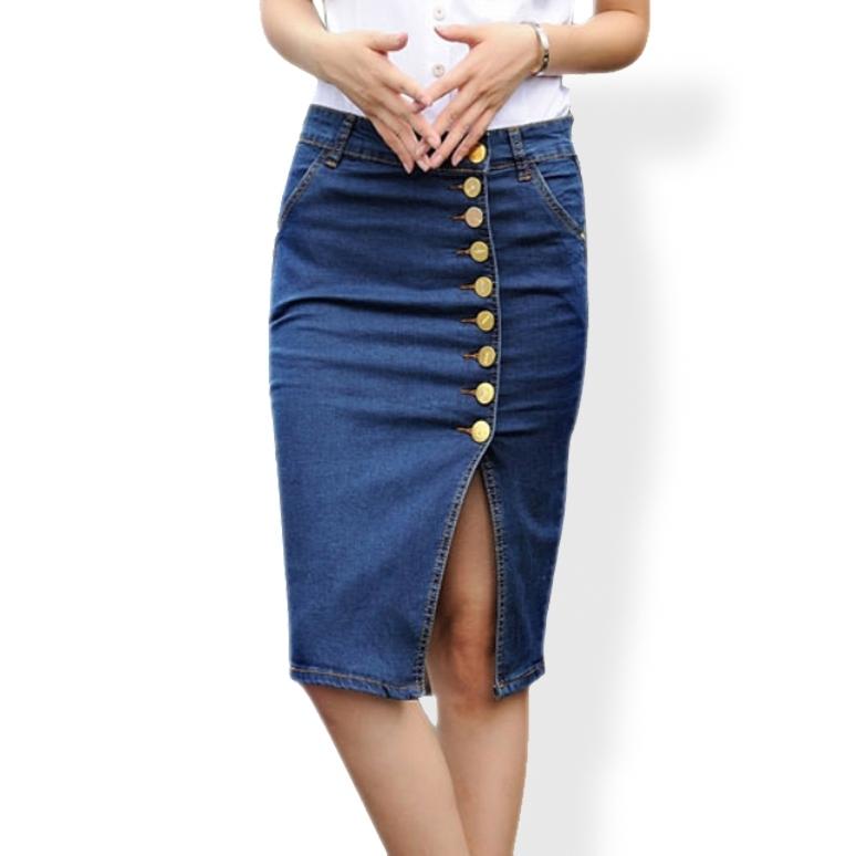 Юбка-карандаш из джинсы своими руками