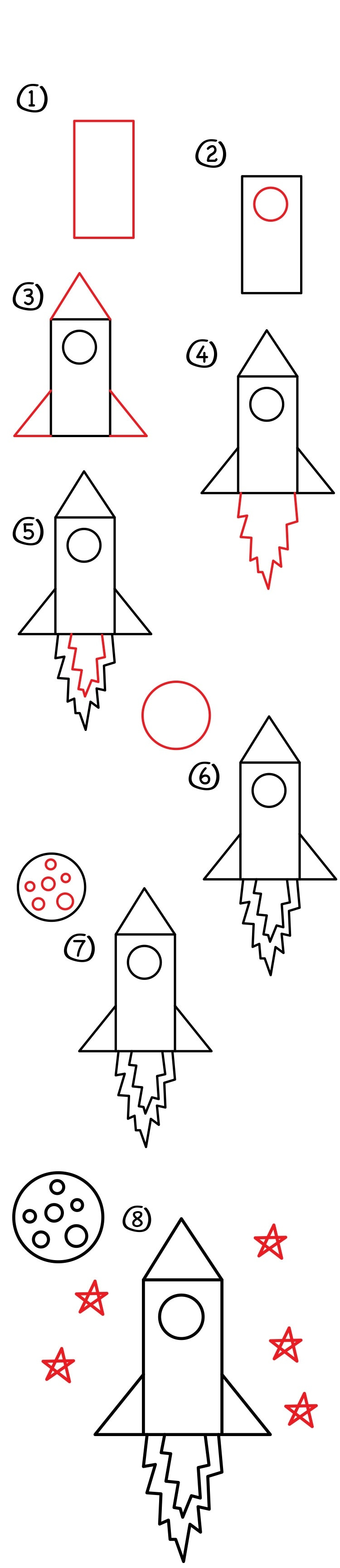 Рисунок ракеты для детей