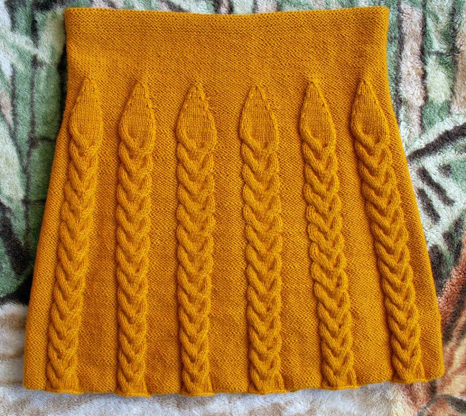 вязание спицы узоры резинка для юбки схемы