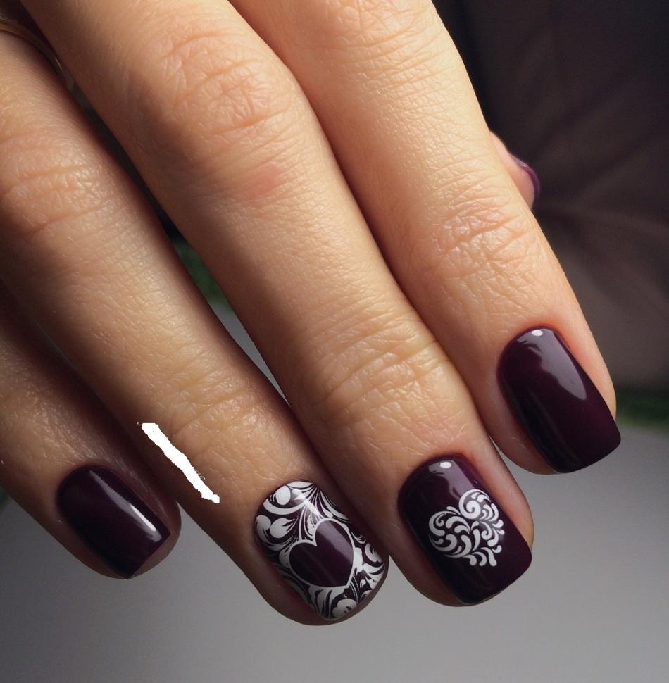 Темный маникюр фото на короткие ногти фото дизайн 2016