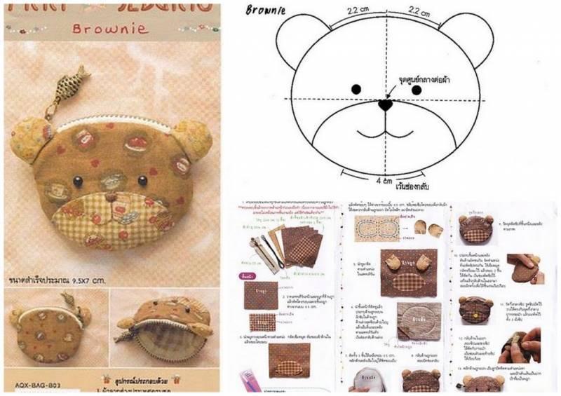Схема сумочки в виде животных