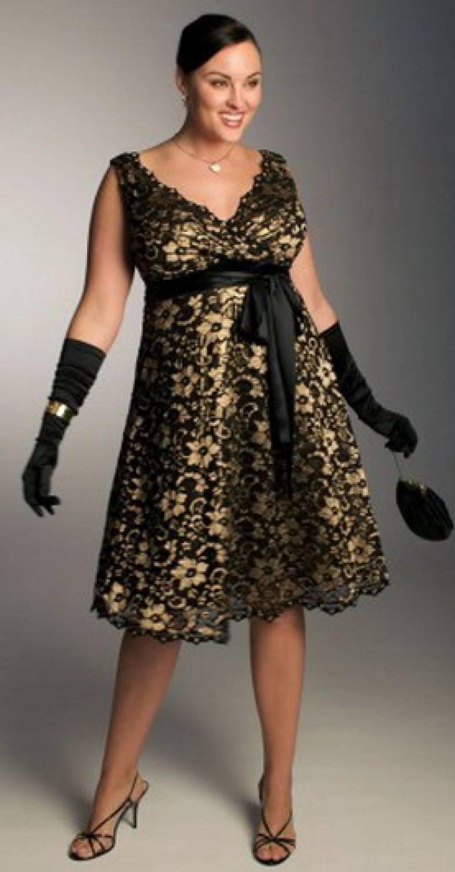 Фасоны праздничных платьев для полных женщин