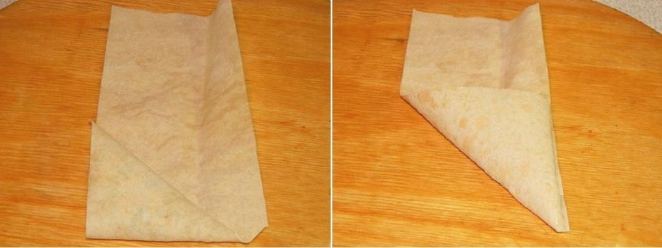 Как сделать треугольник из лаваша 19